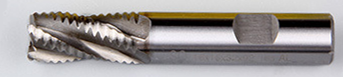 HSS Straight Shank Roughing End Mills - 4F