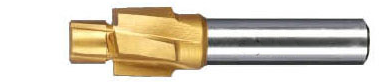 HSS Sunk Head End Mills with TIN